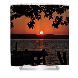 Shower Curtain featuring the photograph The Sun Rises Over The Bay by Mark Dodd