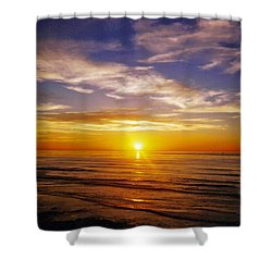 Shower Curtain featuring the photograph The Sun Says Goodnight by Jean Haynes