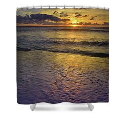 Shower Curtain featuring the photograph The Sun Sets Softly In Molokai by Tara Turner