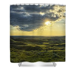 The Sun Shines Through A Cloud Shower Curtain by Robert Postma