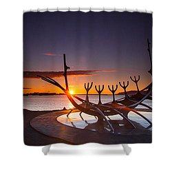 The Sun Voyager Shower Curtain by Mariusz Czajkowski