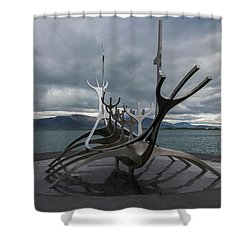 The Sun Voyager, Reykjavik, Iceland Shower Curtain