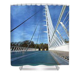 Shower Curtain featuring the photograph The Sundial Bridge by James Eddy