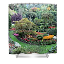 The Sunken Garden Shower Curtain by Betty Buller Whitehead