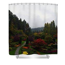 The Sunken Garden Shower Curtain