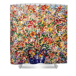 The Sunlight Flowers Shower Curtain