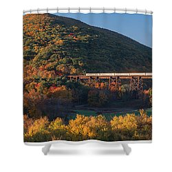 The Sunrise Express Shower Curtain