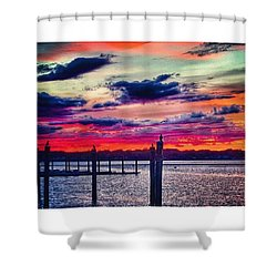 Colors Of The Sun Shower Curtain