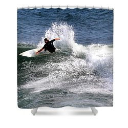 The Surfer Shower Curtain by Tom Prendergast