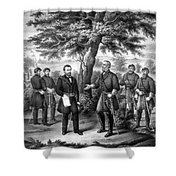 The Surrender Of General Lee  Shower Curtain by War Is Hell Store