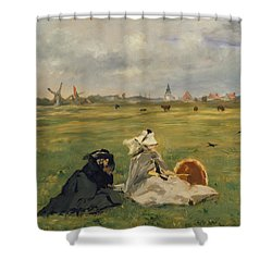The Swallows Shower Curtain by Edouard Manet
