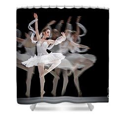 Shower Curtain featuring the photograph The Swan Ballet Dancer by Dimitar Hristov