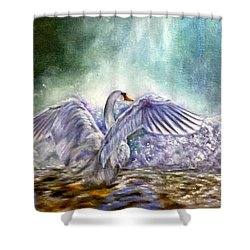 The Swan's Song Shower Curtain