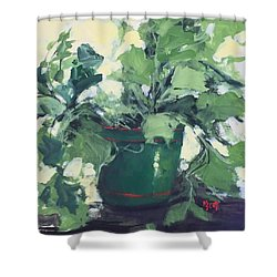 The Sweet Potato Plant Shower Curtain