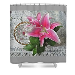 Shower Curtain featuring the photograph The Sweetest Glow by Nancy Lee Moran