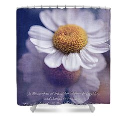 The Sweetness Of Friendship Shower Curtain