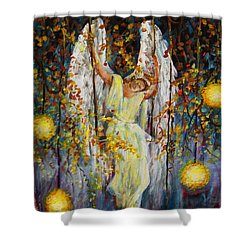The Swinging Angel Shower Curtain