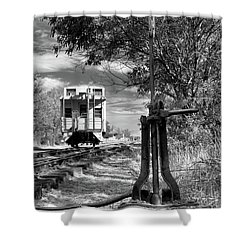 The Switch And The Caboose Shower Curtain by James Eddy