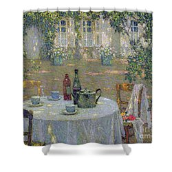 The Table In The Sun In The Garden Shower Curtain
