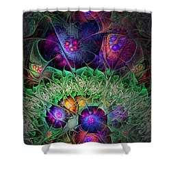 Shower Curtain featuring the digital art The Taiga by NirvanaBlues