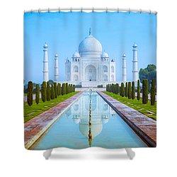 The Taj Mahal Of India Shower Curtain
