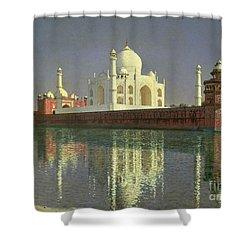 The Taj Mahal Shower Curtain by Vasili Vasilievich Vereshchagin
