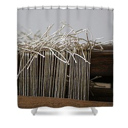 The Tales We Weave In Sepia Photograph Shower Curtain
