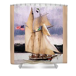 The Tall Ship The Lynx, Fine Art Print Shower Curtain