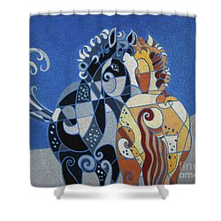 The Tao Of Friendship Shower Curtain