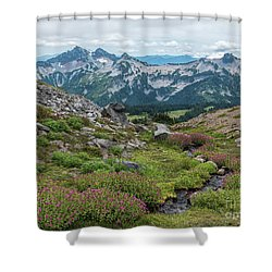 The Tatoosh Range Shower Curtain