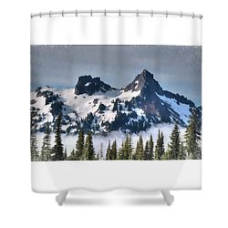 The Tatoosh, Washington, Usa Shower Curtain
