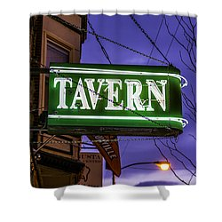 The Tavern On Lincoln Shower Curtain by Raymond Kunst