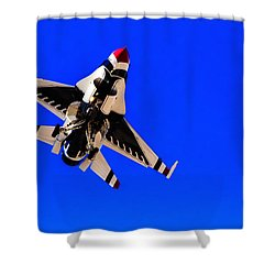 The Team Usaf Thunderbirds Shower Curtain by Michael Rogers