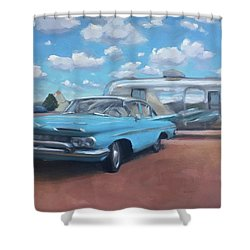 The Teepee Motel, Route 66 Shower Curtain