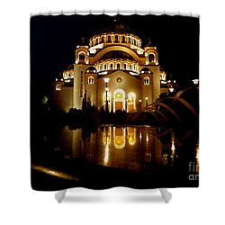 Shower Curtain featuring the photograph The Temple Of Saint Sava In Belgrade  by Danica Radman