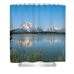 The Tetons On Jackson Lake - Grand Teton National Park Wyoming Shower Curtain