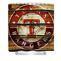 The Texas Rangers 1w Shower Curtain