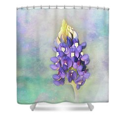 Shower Curtain featuring the photograph The Texas State Flower The Bluebonnet by David and Carol Kelly