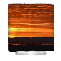 Shower Curtain featuring the photograph The Textured Sky by AJ Schibig