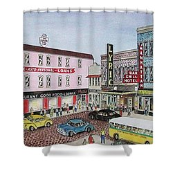 The Theater District Portsmouth Ohio 1948 Shower Curtain