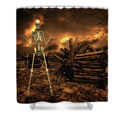 The Theatre Of War Shower Curtain