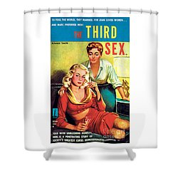 Shower Curtain featuring the painting The Third Sex by Robert Stanley