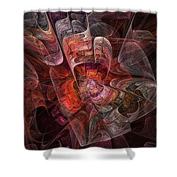 Shower Curtain featuring the digital art The Third Voice - Fractal Art by NirvanaBlues