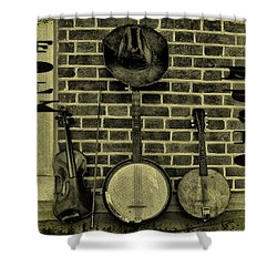 The Three Amigos - Folk Music Shower Curtain by Bill Cannon