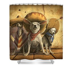 The Three Banditos Shower Curtain