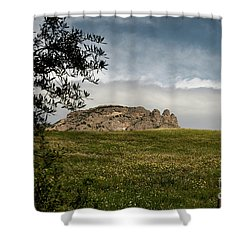 Italy, Calabria, Cimina,the Three Fingers Shower Curtain