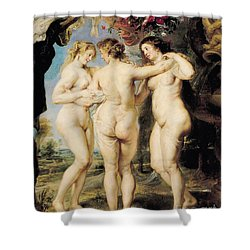 The Three Graces Shower Curtain by Peter Paul Rubens