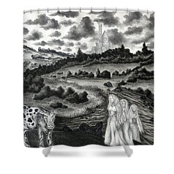 The Three Ladies  Shower Curtain