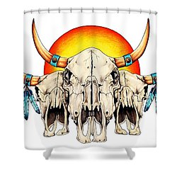 The Three Spirits Shower Curtain