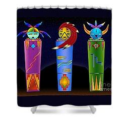The Three Spirits Shower Curtain